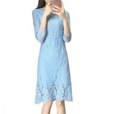 Harga Lace Hollow Out Lengan Panjang Pensil Gaun Untuk Gadis Fashion Intl Terbaru