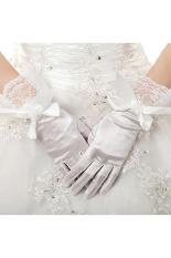 Promo Lace Stretch Bridal Sarung Tangan Putih