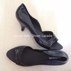 Jual Ladia Heels Jelly Shoes Warna Hitam Indonesia