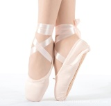 Harga Wanita Sepatu Balet Gadis Satin Tari Sepatu Kanvas Hard Telapak Kuku Praktek Sepatu Merah Muda Fullset Murah