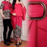 Katalog Lf Batik Pasangan Diva 3In1 Batik Couple Lengan Panjang Kemeja Batik Dipana Kemeja Couple Batik Berkualitas Maroon D3C Batik Terbaru