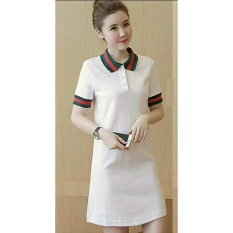 Dress Polos Wanita / Dress Wanita / GuColl / Mini Dress / Terusan Panjang / Kaos bagus (kw ccigu) N