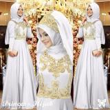 Lf Gamis Syari Syar I Muslim Dress Syahrini Muslim Kebaya Syari Princess Hijab Model Terbaru Incesspr Ss Putih Diskon Indonesia
