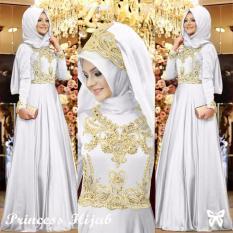 Toko Lf Gamis Syari Syar I Muslim Dress Syahrini Muslim Kebaya Syari Princess Hijab Model Terbaru Incesspr Ss Putih Di Indonesia