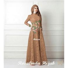 Jual Beli Online Lf Dress Fitri Muslim Kebaya Syari Syar I Baju Gamis Setelan Wanita 3 In 1 Salindaro Ss Mocca D2C