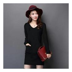 Harga Lf T Shirt Dress Lengan Panjang Dress Luisa Dress Santai Kasual Kaos Wanita Tunik Wanita Baju Terusan Gaun Vivi Nr Hitam D2C Lengkap