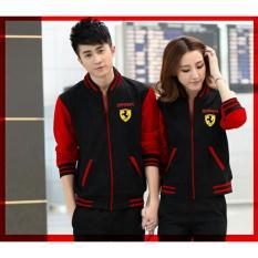 Ladies Fashion Jaket Pasangan Ferary  Jacket Couple / Jaket Sepasang / Jaket Tebal Wanita  - Hitam D2C