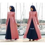 Beli Lf Kebaya Aurora Rina Gamis Syari Syar I Hijab Jilbab Muslim Cantik Lebaran Peach D2C Kredit
