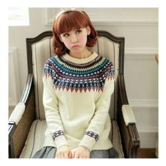 Spesifikasi Lf Sweater Lengan Panjang Elenna Baju Tebal Sweater Lily Kaos Sweater Rajut Sweater Lengan Panjang Nr D3C Baru