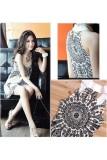 Dimana Beli Ladies Vintage Style Stand Collar Eksotis Gaun Mini Putih Ekspor Intl Oem