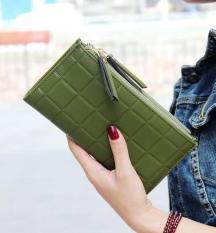 Beli Ladies Wallet Double Zipper Fashion Tassel Lattice Hand Bag Long Large Capacity 2 Fold Wallet Green Intl Not Available Na Murah