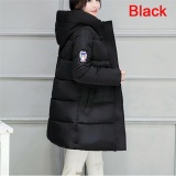 Review Terbaik Ladies Warm Coat Women Jacket Casual Down Parkas Cotton Stylish Winter Jackets Black Intl