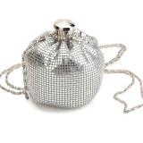 Jual Wanita Ember Casing Mini Aluminium Shoulder Bag Malam Pesta Bling Tas Genggam Dompet Perak Intl Oem Asli