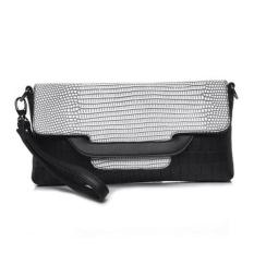 Lady Designer Cross Body Bag Fashion Gaya Barat CrocodilePattern Handbag & Wristlet (Perak)-Intl