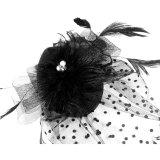 Katalog Hiasan Kepala Wanita Tukang Pesona Bulu Topi Koktail With Jepit Rambut Korea Kain Bersih Kerudung Renda Bunga Bintik Hitam Internasional Terbaru