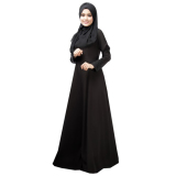 Harga Lady Round Leher Muslimah Abaya Borgol Renda Muslimah Dress Women Robe Pakaian Hitam L Not Specified Original