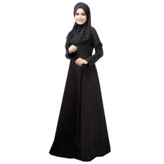 Spesifikasi Lady Round Leher Muslimah Abaya Borgol Renda Muslimah Dress Women Robe Pakaian Hitam L Terbaru