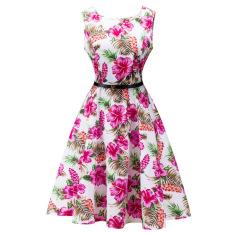Beli Barang Laides Vintage Retro 50 S 60 S Pesta Malam Swing Pinup Rockabilly Women Gaun Bunga Internasional Online