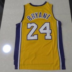 Lakers Kobe Bryant 24 Basket Pelatihan Bernapas Bordir Jersey Pria Dewasa Olahraga Pakaian Perempuan Tops-Intl