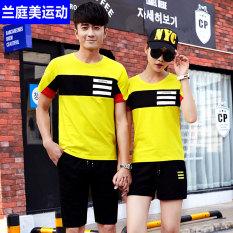 Musim panas Baju olahraga Pria dan wanita Model Sama pemuda bola basket lengan pendek celana pendek Fitness Berlari ukuran besar pasangan casual Set