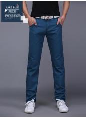 Harga Laki Laki Lurus Slim Muda Celana Panjang Pria Kasual Celana Danau Biru Celana Pria Celana Panjang Pria Celana Chino Celana Cargo Baru Murah