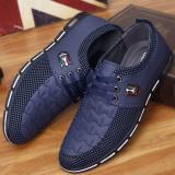 Cuci Gudang Laki Laki Muda Inggris Pria Putaran Sepatu Sepatu Sepatu Biru Sepatu Pria Sepatu Kulit Sepatu Kerja Sepatu Formal Pria