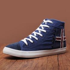 Laki Laki Musim Gugur Baru Bernapas Kasual Sepatu Pria Sepatu Kanvas Biru Tua Warna Sepatu Pria Sepatu Sneakers Sepatu Sport Sepatu Casual Pria Tiongkok Diskon