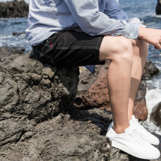 Beli Laki Laki Musim Panas Lurus Celana Lima Celana Hitam Online Tiongkok