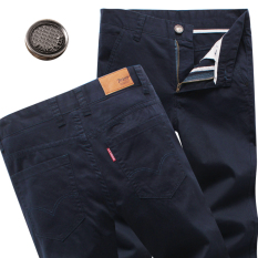 Beli Laki Laki Untuk Meningkatkan Longgar Celana Panjang Musim Panas Celana Kasual Biru Navy Celana Pria Celana Panjang Pria Celana Chino Celana Cargo Online Murah