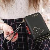 Spesifikasi Lalang 3 Lapisan Zipper Handbag Tote Cute Dompet Wanita Hitam Intl Terbaik