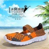 Spesifikasi Lalang Dilengkapi Ventilasi Mesh Sepatu Wanita Anyaman Sepatu Datar Sandal Jepit Orange Intl Dan Harga
