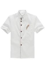 Diskon Lalang Chef Seragam Pendek Lengan Mantel Putih Tiongkok