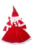 Spesifikasi Gadis Natal Baju Topi Cape Santa Set Gaun Beludru Merah Lalang Paling Bagus