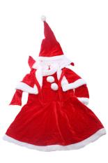 Spesifikasi Gadis Natal Baju Topi Cape Santa Set Gaun Beludru Merah Lalang Dan Harganya