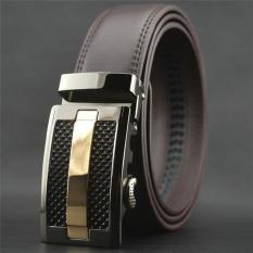 Lalang Busana Pria Otomatis Gesper Faux Leather Belt 3 Hitam Diskon Akhir Tahun