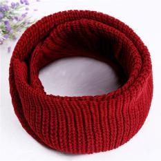 Spesifikasi Lalang Hot Unisex Musim Dingin Hangat 2 Lingkaran Knit Cowl Scarf Selendang Merah Anggur Internasional Beserta Harganya