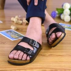Harga Lalang Pecinta Sandal Cork Sandal Musim Panas Pantai Sandal Flip Sandal Hitam Intl Termurah