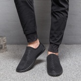 Beli Lalang Men Flats Mesh Slip On Casual Shoes Black Intl Lalang
