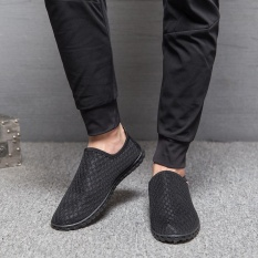 Spesifikasi Lalang Men Flats Mesh Slip On Casual Shoes Black Intl Paling Bagus