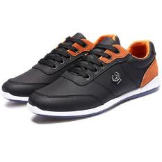 Pria Sepatu Kulit PU Kausal Inggris Perkakas Sepatu (hitam) LALANG-Internasional