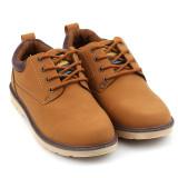 Jual Cepat Lalang Pria Sepatu Pu Kulit Kausal Inggris Perkakas Sepatu Kuning Intl