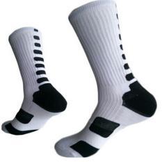 LALANG Men's Sport Socks Professional Basketball Elite Socks Outdoor Sport Sock White