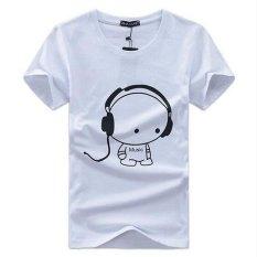 LALANG New Fashion Summer T-shirt Men O-neck Comfortable Shirt Fitness Tops White