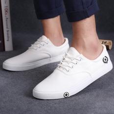 Harga Lalang Sepatu Pria Gaya Pantofel Flat Bertali Warna Putih Fullset Murah