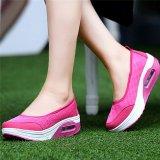 Jual Lalang Gaya Baru Fashion Wanita Sepatu Fitnes Kasual Hot Pink International Murah