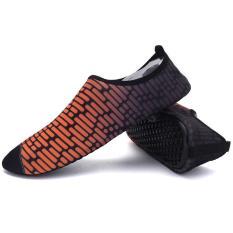 Harga Lalang Unisex Renang Musim Panas Sepatu Pantai Sepatu Flat Yoga Sport Sepatu Oranye Intl Asli