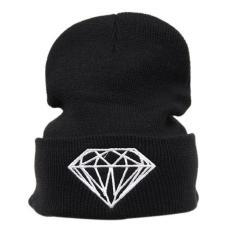 LALANG Adapula Perjalanan Kolam Hip Hop Topi Kupluk Diamond Topi Rajut Hitam