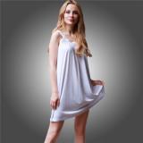 Toko Lalang Wanita Cami Gaun Solid Square Kerah Mini Dress Putih Intl Lalang