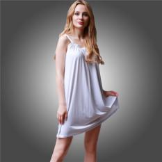 Berapa Harga Lalang Wanita Cami Gaun Solid Square Kerah Mini Dress Putih Intl Di Indonesia