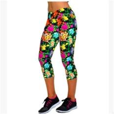 LALANG Wanita Latihan Legging Olahraga Fitness Stretch Dipotong Celana (10 #)